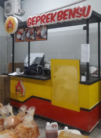 Pengiriman Barang Jakarta Malang, Rombong Geprek Bensu